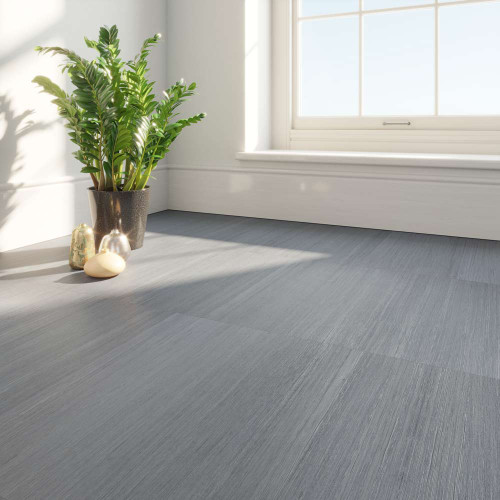 Clixeal Linear Grey Vinyl Floor Tiles Room Decor
