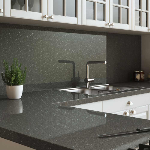 Senses Graphite Sparkle Splashback Room Style