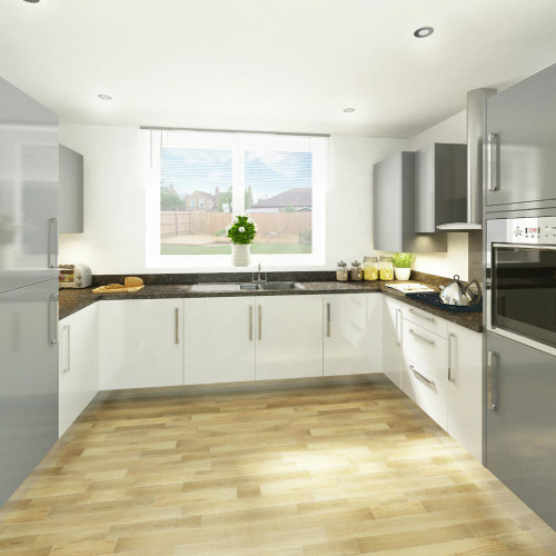 Heritage Carbon Black Laminate Worktop Room Style