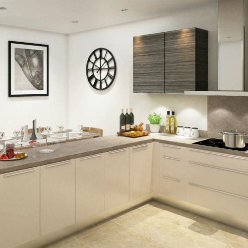 Heritage Lunar Grey Laminate Worktop Room Style