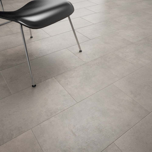 Clixeal Light Concrete Vinyl Floor Tiles Room Decor Style