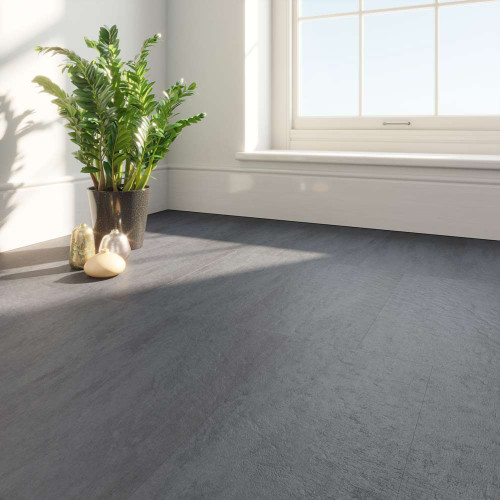 Clixeal Shetland Slate Vinyl Floor Tiles Room Decor