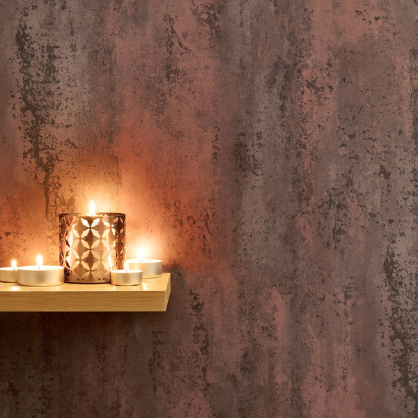 Ancona Copper Red PVC Waterproof Shower Panel Room