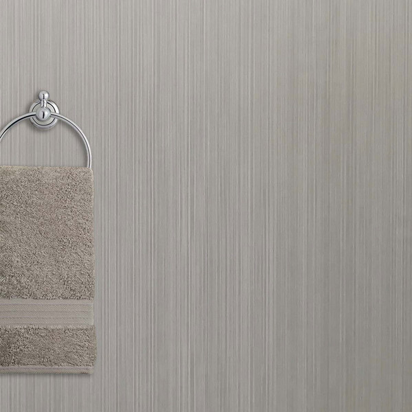 Ancona Brushed Grey PVC PVC Waterproof Shower Panel Room