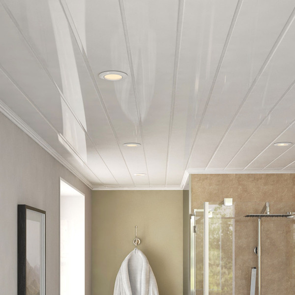 Room Style of Ancona Double White Gloss PVC Ceiling Panels