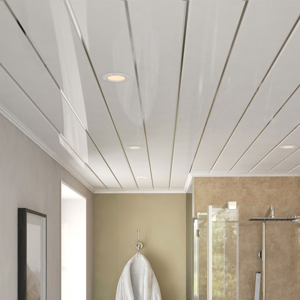 Room Style of Ancona Double Chrome Gloss PVC Ceiling Panels