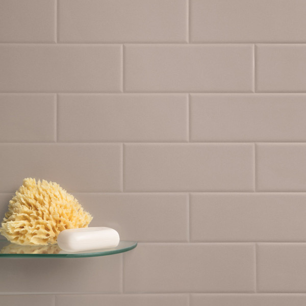 Versatile Latte Brick Tile Effect Shower Panel Room