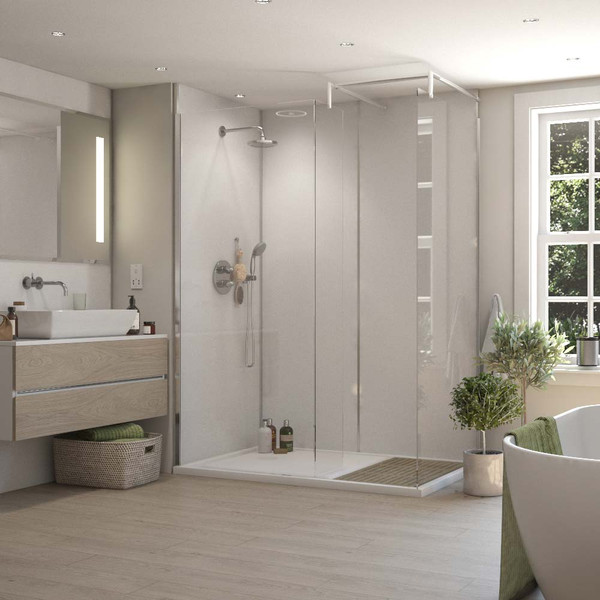Selkie Structured White Laminate Wall Panel Room Style