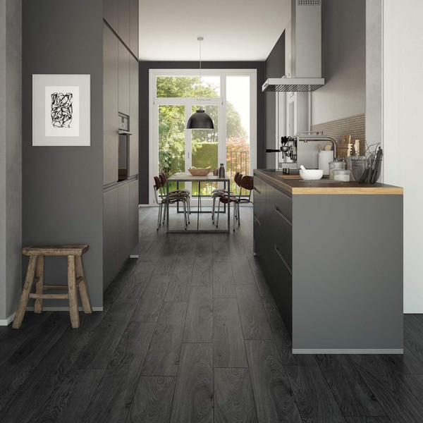 Clixeal Smoked Ash Vinyl Floor Planks Room Style