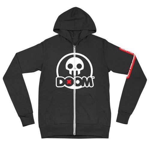 Skull Lightweight Zip Hoodie