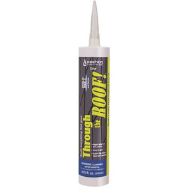 Through The Roof!® Waterproof Sealant, 10.5 Oz., Clear