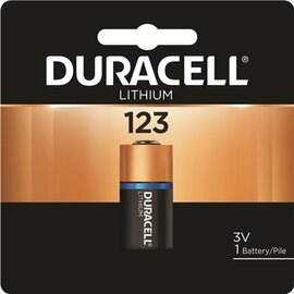Duracell Coppertop 123 Lithium Ultra Photo Battery, 3 Volts
