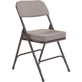 National Public Seating Charcoal Fabric Padded Seat Folding Chair (Set Of 2)