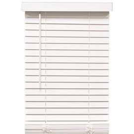 Designer's Touch Cut-to-width White Cordless 2 In. Faux Wood Blind - 45 In. W X 60 In. L
