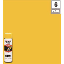 Rust-oleum Industrial Choice 17 Oz. S1600 System Yellow Inverted Striping Spray Paint (6-pack)