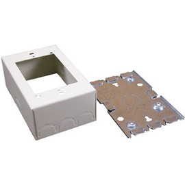 Wiremold® V500/v700 1-gang Shallow Switch And Receptacle Box, Steel, Single-channel, Ivory, 4-5/8 X 2-7/8 X 1-3/8 In.