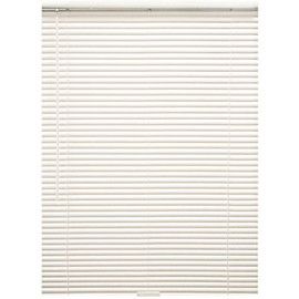 Designer's Touch Alabaster Cordless Room Darkening Aluminum Mini Blinds with 1 in. Slats 35 in. W x 60 in. L