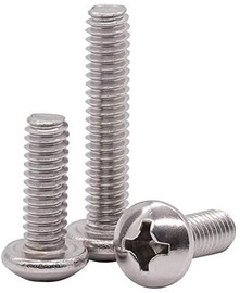 #10-32 x 1/4 Phillips Pan Head Machine Screws,Stainless Steel,Full Thread,Right Hand,Pack of 50