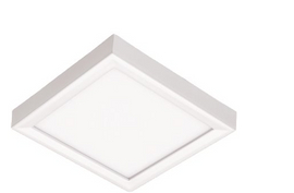 Juno Lighting Juno Slimform Led 5 in. 10-Watts 3000k Square Surface Mount Downlight for J-Box Installation in Dimmable White