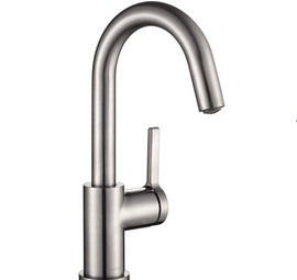 Aguastella As1010bn Brushed Nickel Bar Faucet Or Prep Kitchen Sink Faucet With Single Handle