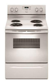 Whirlpool 30 in. 4.8 cu. ft. 4-Burner Electric Range with Keep Warm Setting in White with Storage Drawer