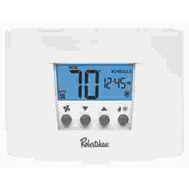 Robertshaw Rs4110 Non-programmable Thermostat, 1 Heat/1 Cool, 24-volt Ac With Battery Backup Or 3-volt Dc