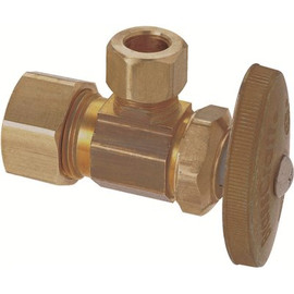 Brasscraft 1/2 In. Nom Comp Inlet X 3/8 In. Od Comp Outlet Multi-turn Angle Stop