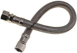 Sink Water Connector Supply Line 3/8 In. Comp X 3/8 In. Comp Polymer Br 12 In. Lead Free