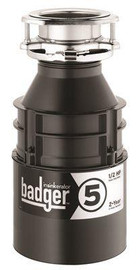 Insinkerator 1/2 Hp Badger 5 Continuous Feed Garbage  Disposal-no Power Cord