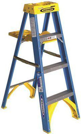 4 Ft. Fiberglass Step Ladder With 250 Lbs. Load Capacity Type I Duty Rating