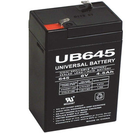 Upg 6-volt 4.5ah Maintenance-free Ul Listed Exit Lighting And Emergency Lighting Security Battery