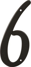 Prime-line 4 In. Black Metal House Number 6 Or Number 9 With Nails (2-pack)