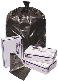 Renown 60 Gal. 38 In. X 58 In. Black 1.2 Mil 10-liners Per Roll, Trash Can Liners (10-rolls Per Case)