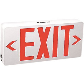 Tcp 120-volt Wh Housing Integrated Led Red Exit Sign With Universal Battery Backup