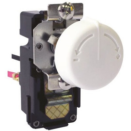 King 3.8 In. X 2 In. X 2.4 In. Double Pole Retrofit Built-in Thermostat Kit For Wall Heaters In White