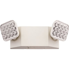 Lithonia Lighting 2-light Wall Mount White Integrated Led Thermoplastic Emergency Light With Adjustable Optics Cec Compliant
