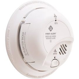 BRK Hardwired Smoke And Carbon Monoxide Combination Detector With 10-year Lithium Battery Backup