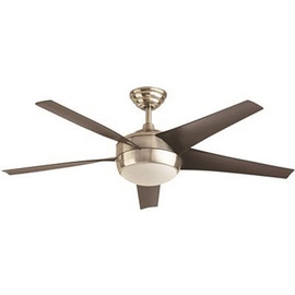 Home Decorators Collection Windward 52 In. Led Brushed Nickel Ceiling Fan With Light Kit