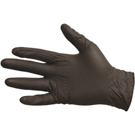 Impact Products Proguard Disposable Extra Large Black Nitrile Powder-free Gloves (Box Of 100)