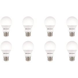 Ecosmart 60-watt Equivalent A19 Non-dimmable Led Light Bulb Cool White - 8-pack- (These Led Bulbs Use Only 9-watts Of Energy But Provide Brightness Like A Traditional 60-watt Incandescent Light Bulb)