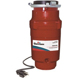Garrison 1/3 Hp Builder Continuous Feed Garbage  Disposal - Apartment Pack