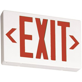 Lithonia Lighting Contractor Select Exr White Thermoplastic Led Emergency Exit Sign