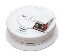 Firex Hardwire Smoke Detector With 9v Battery Backup, Ionization Sensor, And 2-button Test/hush Ac/dc