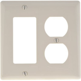 Hubbell Wiring 2-gang Decorator Duplex Receptacle Wall Plate, White