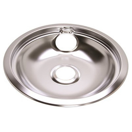 Electric Range Drip Pan Fits Frigidaire Ranges, Chrome, 8 In.