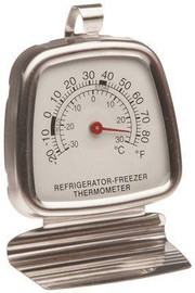 Refrigeration-freezer Thermometer Temperature Range: -20f To 80f (-29c To 27c), Each