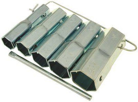 Proplus 1-7/16 In. Shower Socket Wrench Set (5-piece)