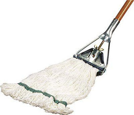 Renown Premium White Nylon Loop-end Finish Wet Mop Head With 1 In. Head Band