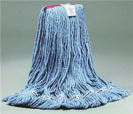 Renown Standard Large Blue Blend Loop-end Wet Mop Head With 1 In. Head Band
