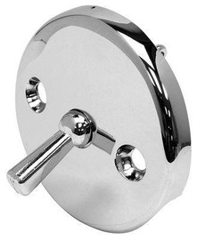 Round Overflow Trip Lever Plate C.p. Clip Type